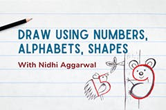 Draw using Numbers, Alphabets, and Shapes