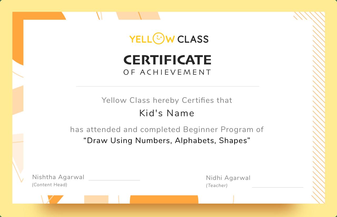 Program Certificate