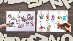 Draw using Alphabets and Numbers